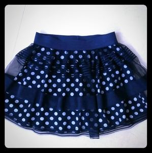 NAUTICAL BLUE LACE SKIRT over SHORTS